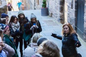 Mini Kilt Tours on walking tour in Edinburgh Old Town